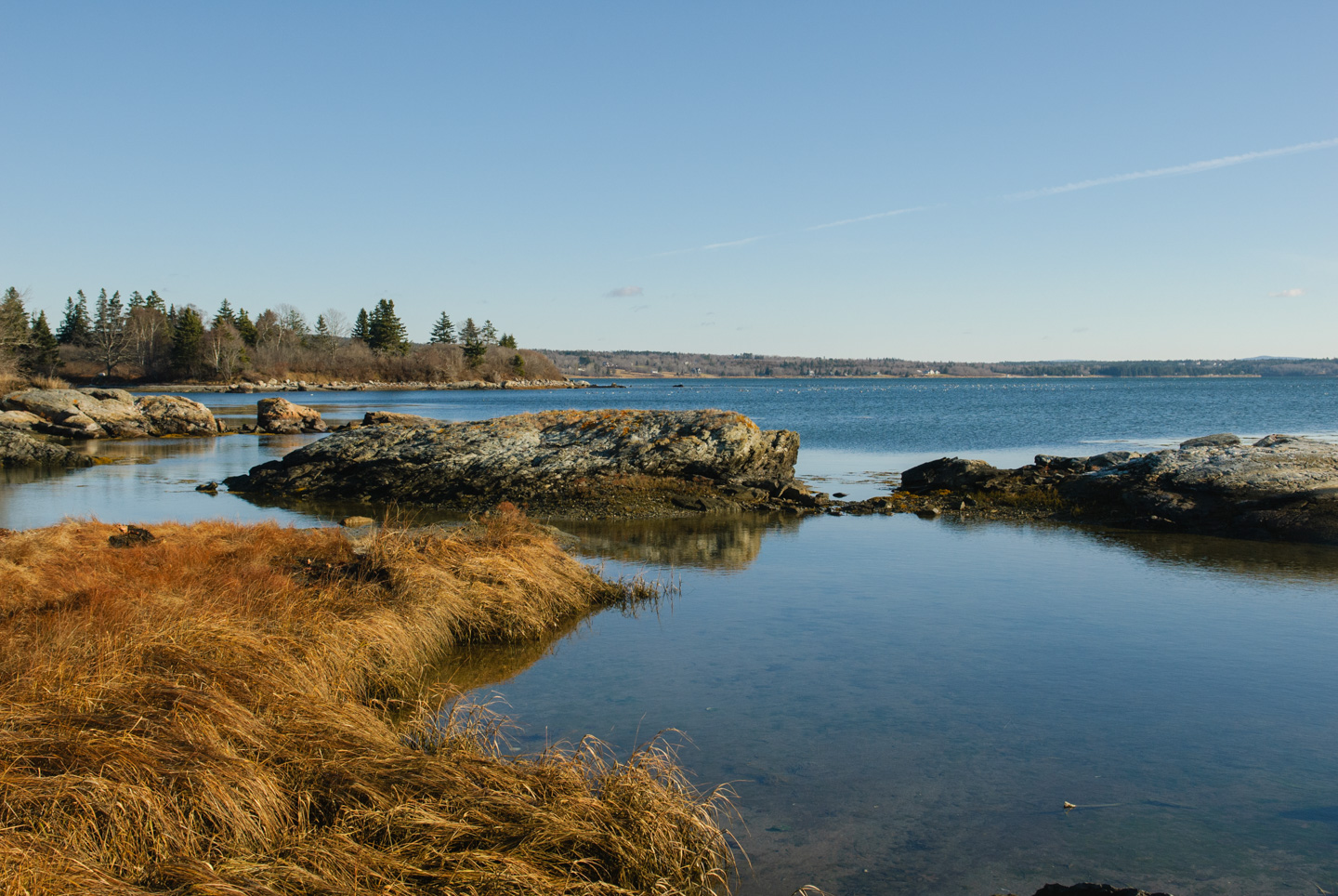View back to mainland from Deer Isle