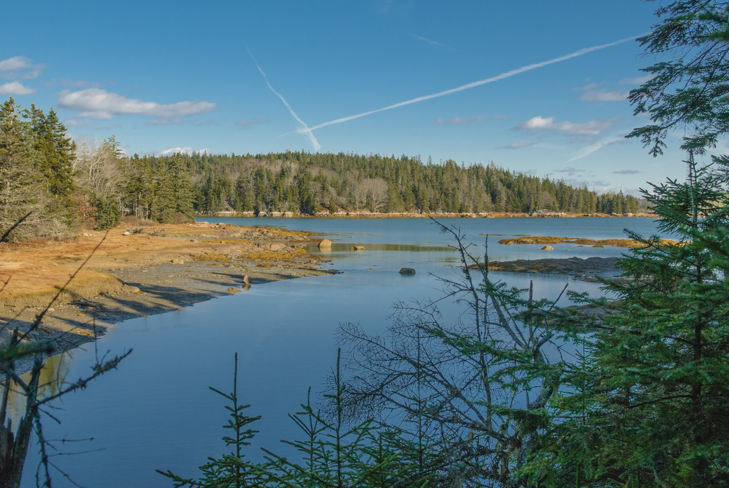 Photo of bay, taken at Edgar Tennis Preserve on Deer Isle