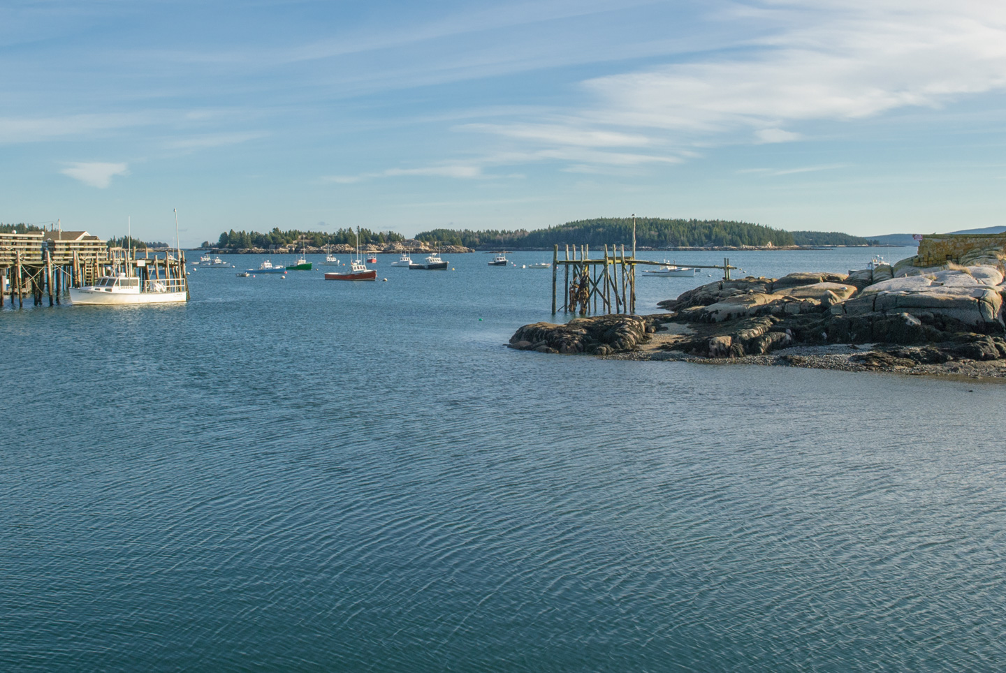 View of the water in Stonington Maine
