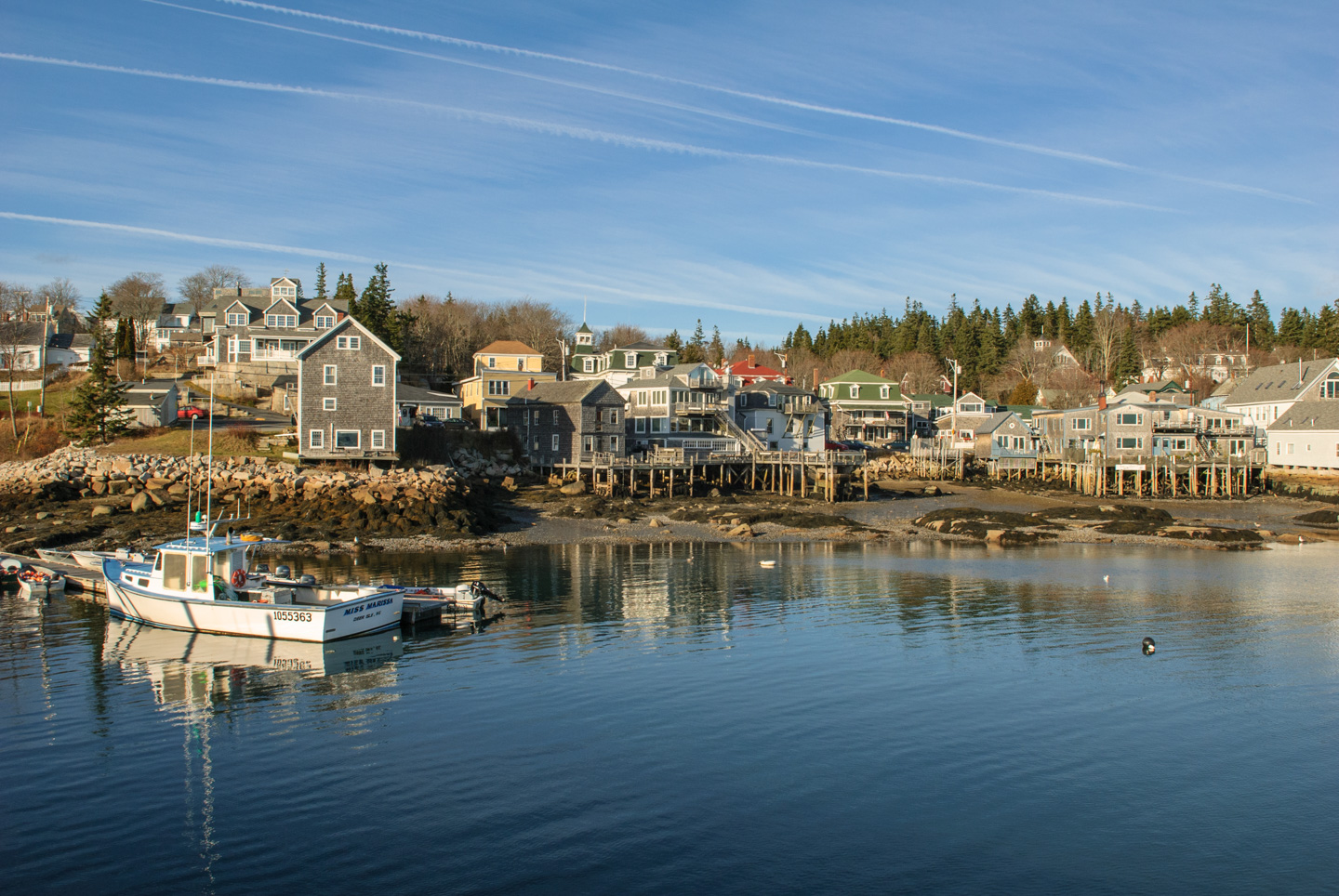 View across harbor of Stonington Maine
